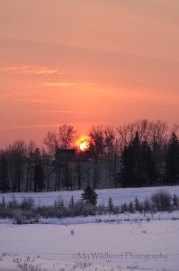 Canadian Farmhouse Sunrise