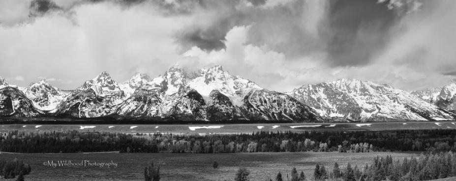 Grand Tetons in Black and White, Grand Teton National Park, Wyoming