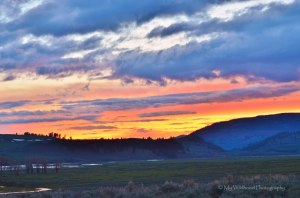 Sunset in Lamar Valley, Yellowstone National Park, Wyoming